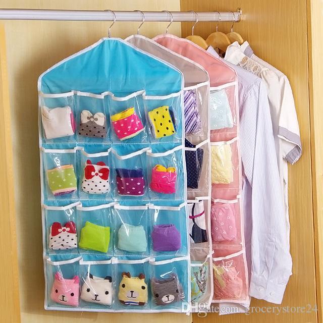 Großhandel 4 Farben 16 Taschen Faltbare Kleiderschrank Hängenden ...