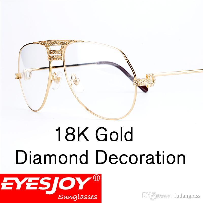 Luxury Eyeglasses Frames Men Eyeglasses Women Diamonds Metal Frame ...