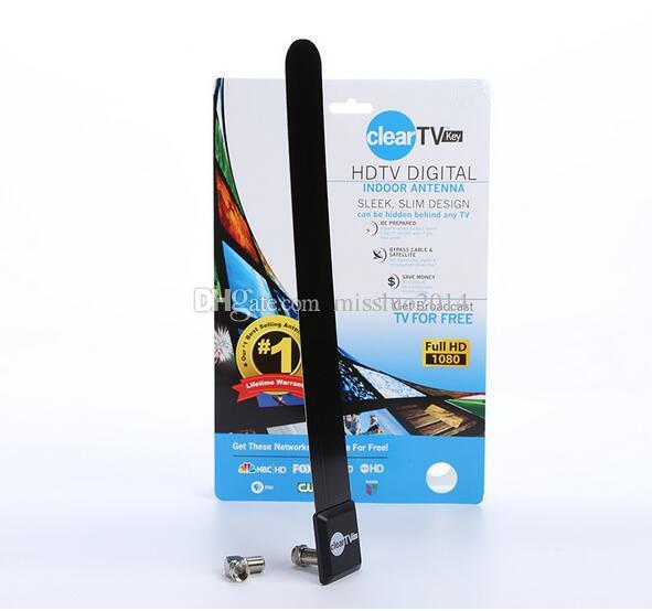 HOT Clear Tv key HDTV digital indoor antenna sleek slim design hidden behind TV,Get broadcast tv for free