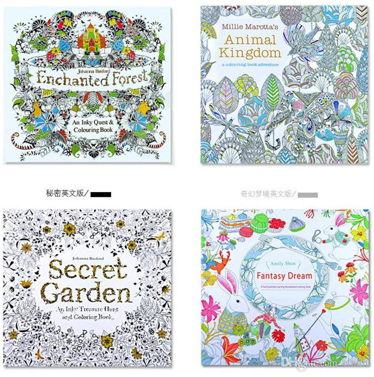 Prettybaby Secret Garden Coloring Book Painting Drawing 24