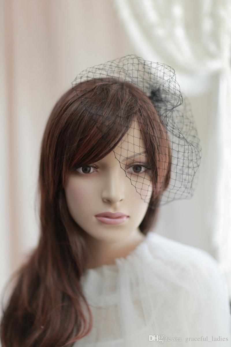 White/Black Birdcage Veils For Brides Wedding Accessories Short Bridal Veil Velos De Novia Birdcage Veil With Comb