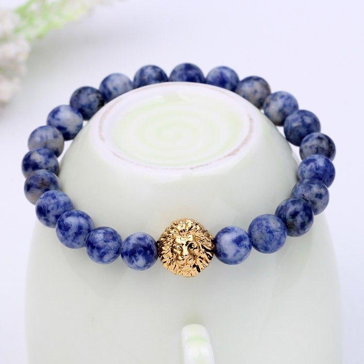 Hot Bead Charm Armband Buddha Armbänder Paracord Naturstein Löwe Armband Männer Pulseras Hombre Bracciali Uomo Herren Armbänder