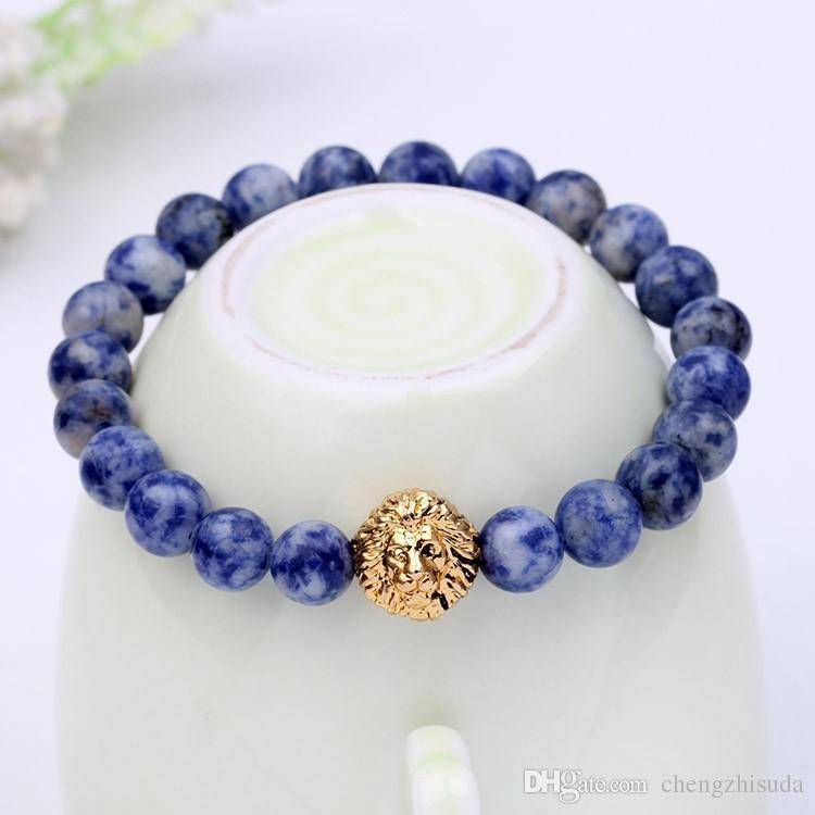 Hot bead Charm bracelet buddha bracelets paracord natural stone lion bracelet men pulseras hombre bracciali uomo mens bracelets