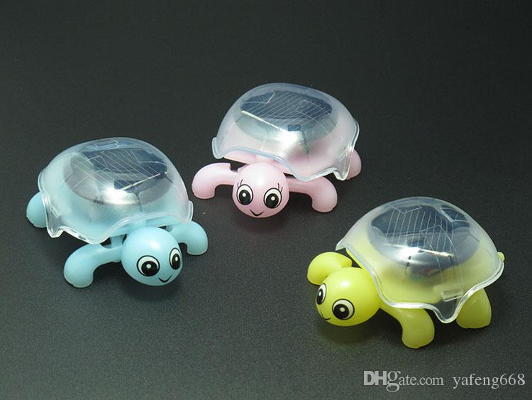 Solar toy mini turtle crawling DIY assembly assembled creative novelty birthday gift child friend