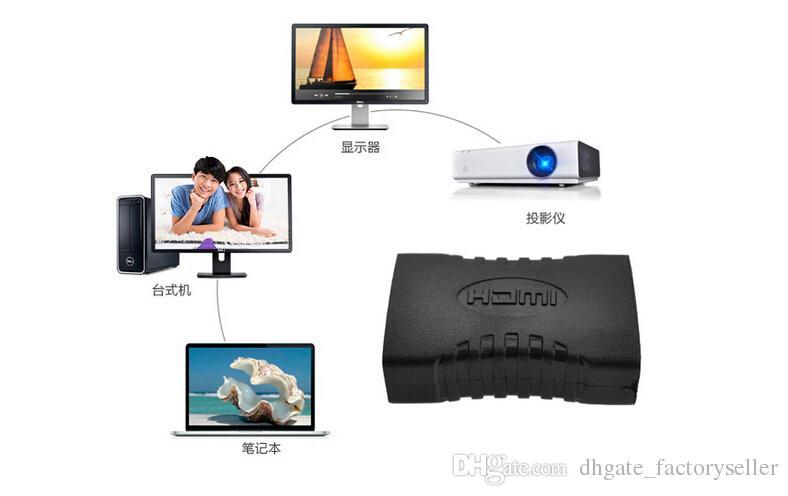 V1.4 HDMI EXTENDER HEMBRA A HEMBRA ACOPLADOR ADAPTADOR JOINER Convertidor CONECTOR Adaptador 1080P