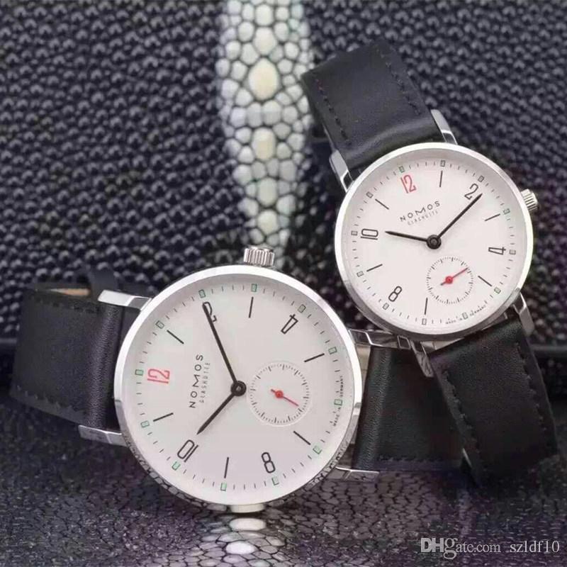 2016 Yeni Marka NOMOS Kuvars İzle severler Saatler Kadın Erkek Elbise Deri Elbise Kol Saatleri Moda Casual Saatler Saatler