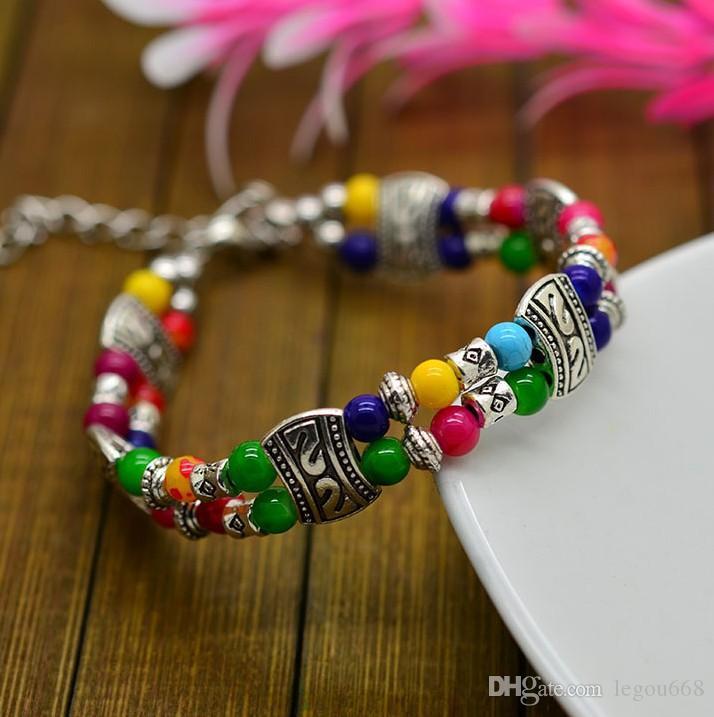 Jóia frisada antiga, jóia Handmade da pulseira, bracelete nacional da liga do vento