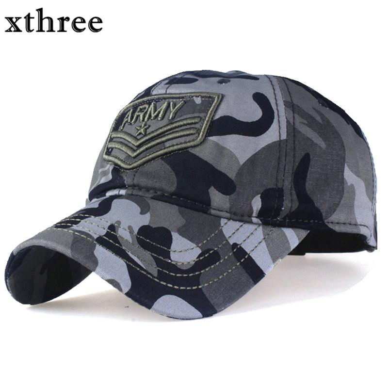 c652f4dc98f Xthree Camouflage Baseball Cap Letter Army Snapback Hat For Men Cap Gorra  Casquette Dad Hat Wholesale Custom Hats Mens Hats From Crazyxb