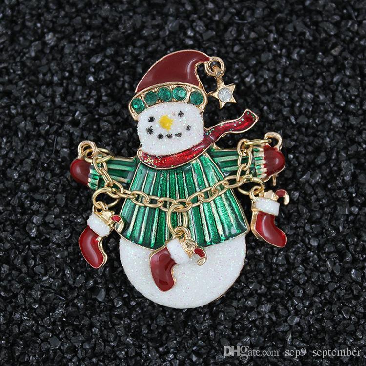 Рождество брошь новый стиль Леди милые броши ювелирные изделия рождественские елки брошь одежда декор рождественские подарки