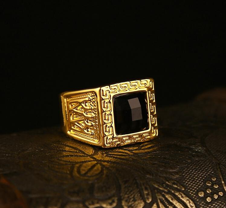 Wholesale Upgrade 8 11 Size Design Gold Plated Men Rings High