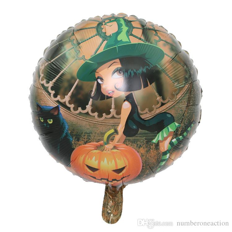 Hot Sale Happy Halloween horror pumpkin head foil balloons Halloween party air balls decoration kids Festival supplies