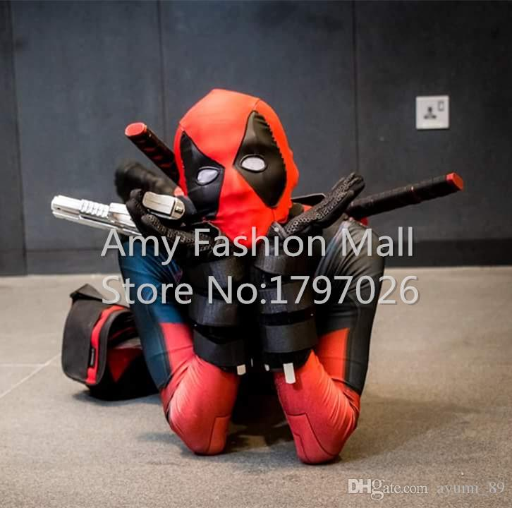 Newest Classic Halloween Cosplay Suits Adult Deadpool Costume Adults 3D Printing Lycra Zentai Suit Can Custom Size