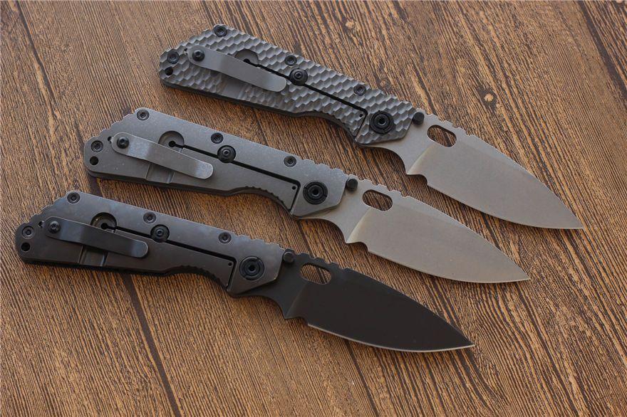 coltello da tasca Lama pieghevole in acciaio fibra Miker ST SMF D2 Carbon Titanium campeggio della lama di caccia strumenti EDC tattico di Natale del regalo delle lame di sopravvivenza