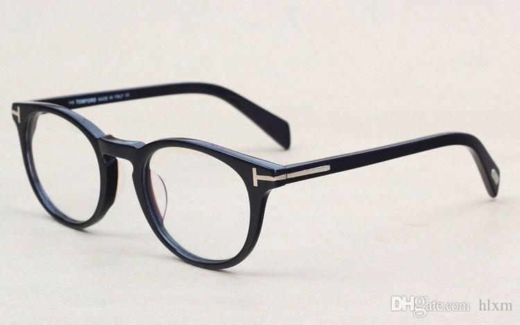 3707c3f629 Classic Retro Clear Lens Optical Frames Glasses Brand Designer Men Women  Eyeglasses 6123 Vintage Plank Spectacle Myopia Eyewear Frame Canada 2019  From Hlxm