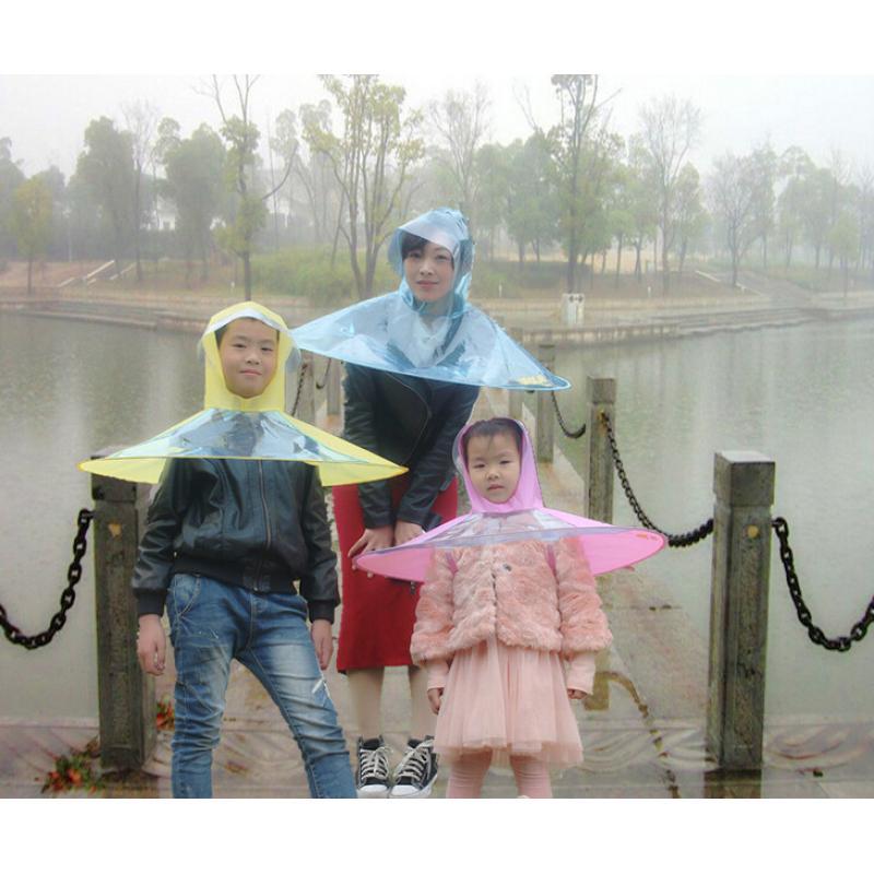 4d784c06e016 Creative Raincoat Umbrella Headwear Hat Cap Outdoor Fishing Golf Child  Adult Rain Coat Cover Transparent Umbrellas Size S/M/L