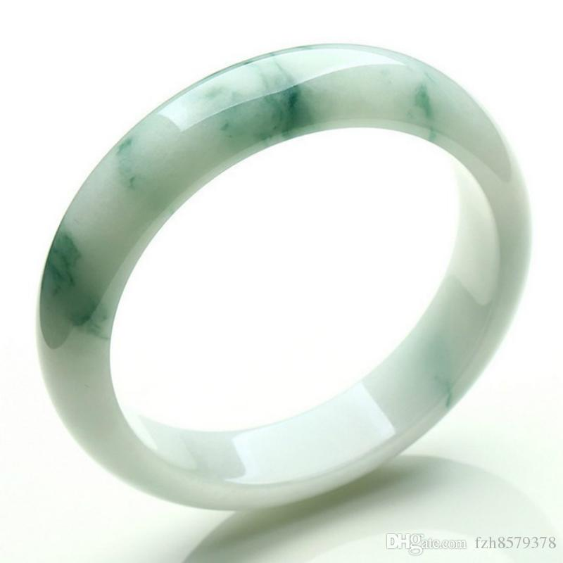 6f2554452efa1 Light Green Jade Bangle New China traditional Natural Myanmar Jadeite  Bracelet Ice waxy kind for women 52mm