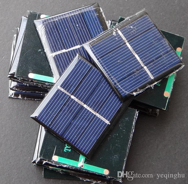 미니 0.36W 2V 태양 전지 모듈 다결정 태양 전지 패널 DIY 솔라 토이 패널 시스템 에폭시 교육 42.5 * 48.5MM / 무료 배송
