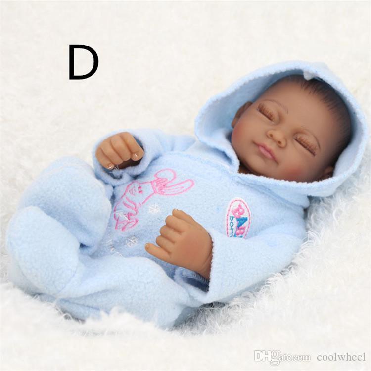 Crianças Playmate Preschool Educação Presente de Natal Do Bebê Crianças Bonecas 28 cm Simulação Reborn Dolly Presentes Brinquedos Reborn Silicone Rápido grátis