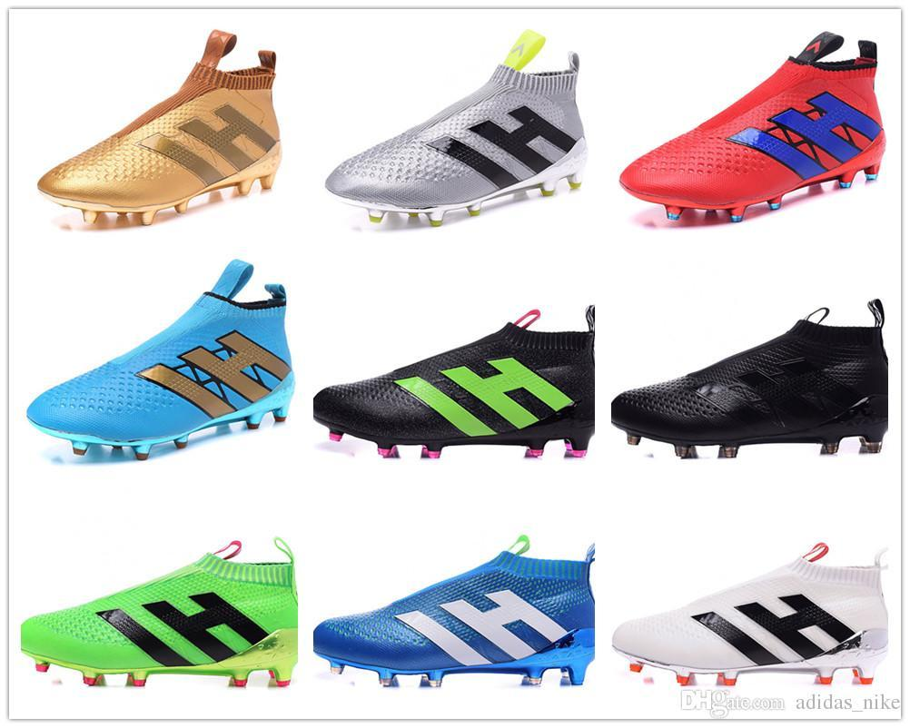 online store 6dffc daa34 2019 2016 Ace 16+ Purecontrol Soccer Boots Pure Control Football Shoes  Soccer Full Gold Cleats Boots All White Blue Football Shoes From Sport2000,  ...