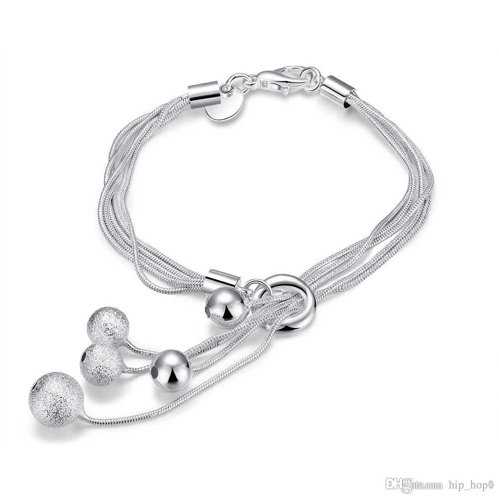fb29c5e0b53f Silver Plated Beads Elements Tassel Bracelet 925 Jewelry Sterling Silver  Charms Bracelets   Bangle Classic Fashion Jewelry Girlfriend Gift Jewelry  ...
