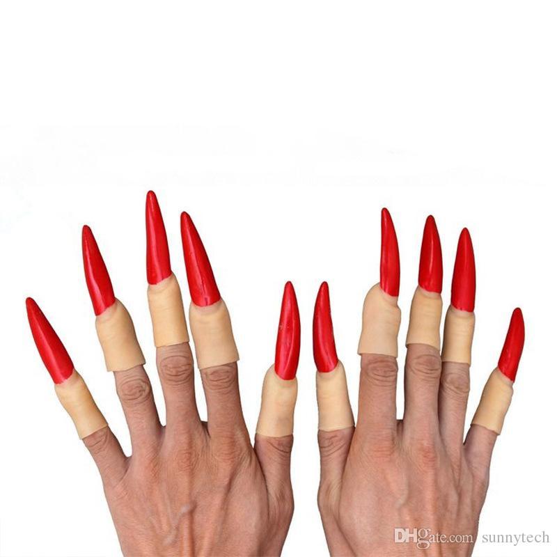 Halloween Day puntelli vampiro Zombie false Finger set Ghost Witch unghie decorazione di Halloween spedizione gratuita WA1042
