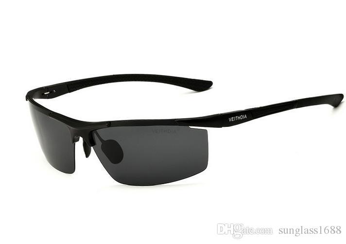جديد veithdia الألومنيوم المغنيسيوم الرجال النظارات المستقطبة طلاء مرآة نظارات الشمس oculos ذكر نظارات اكسسوارات للرجال