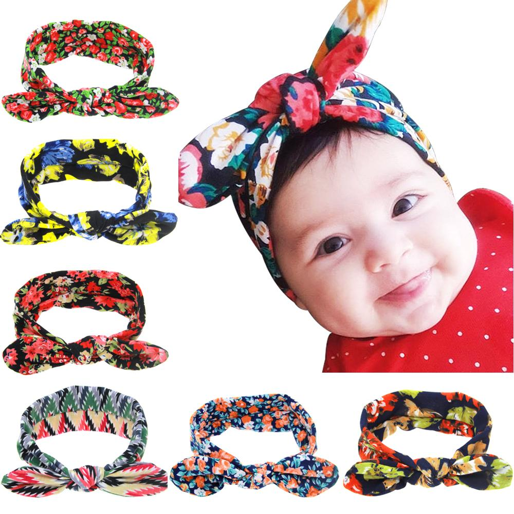 73944cab3fa8 Baby Girl Floral Turban Headband Head Wrap Hair Band With Bunny Ear Kids  Hair Bows Hair Accessories Floral Headband Online with $1.02/Piece on  Melee's Store ...