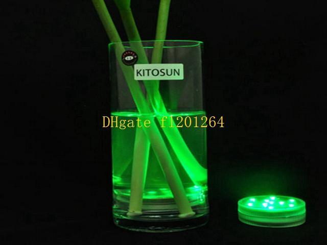 Livraison Gratuite Multicolores RVB Télécommande Submersible LED Light Wedding Paryt Étanche LED Vase Base Light