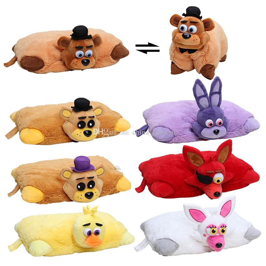 2018 43cm30cm FNAF Five Nights At FreddyS Plush Toys Golden Freddy Fazbear Mangle Soft Stuffed Pillow Doll Brithday Gift From China Outdoor