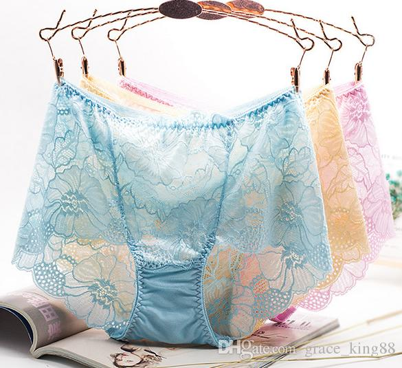 Fashion Top quality luxurious /pack Plus size Women's Sexy panties Sexy underwear Ladies Sexy Lace pantis Boy Short underweare briefs