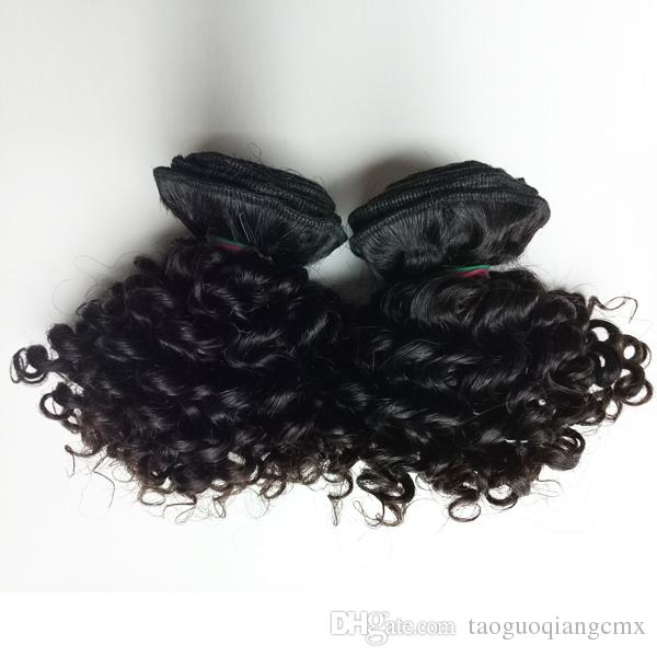 Beautiful queen Brazilian virgin Hair Kiss sexy New short type Kinky Curly Black woman Indian remy Hair 50g/pc 300gDouble weft