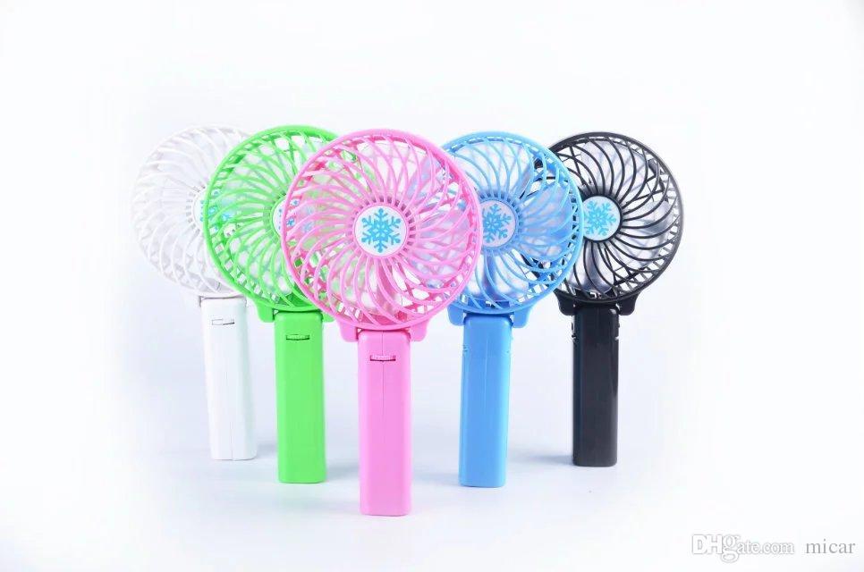 2016 venda quente Ventiladores Da Mão Dobrável Bateria Operado Recarregável Handheld Mini Ventilador Ventiladores Elétricos Pessoais Hand Bar Desktop Ventilador