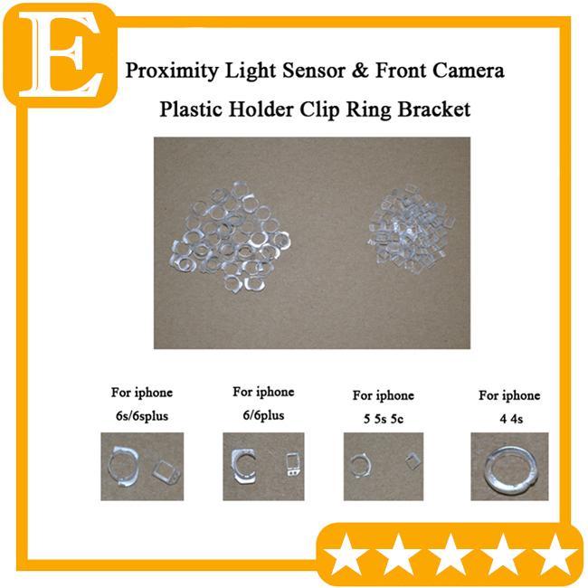 الجملة-الأصل الكاميرا الدائري حامل القرب مستشعر الضوء البلاستيك حامل كليب كاب القوس لفون 4 5 5 ثانية 5c 6 6 ثانية زائد استبدال الجزء