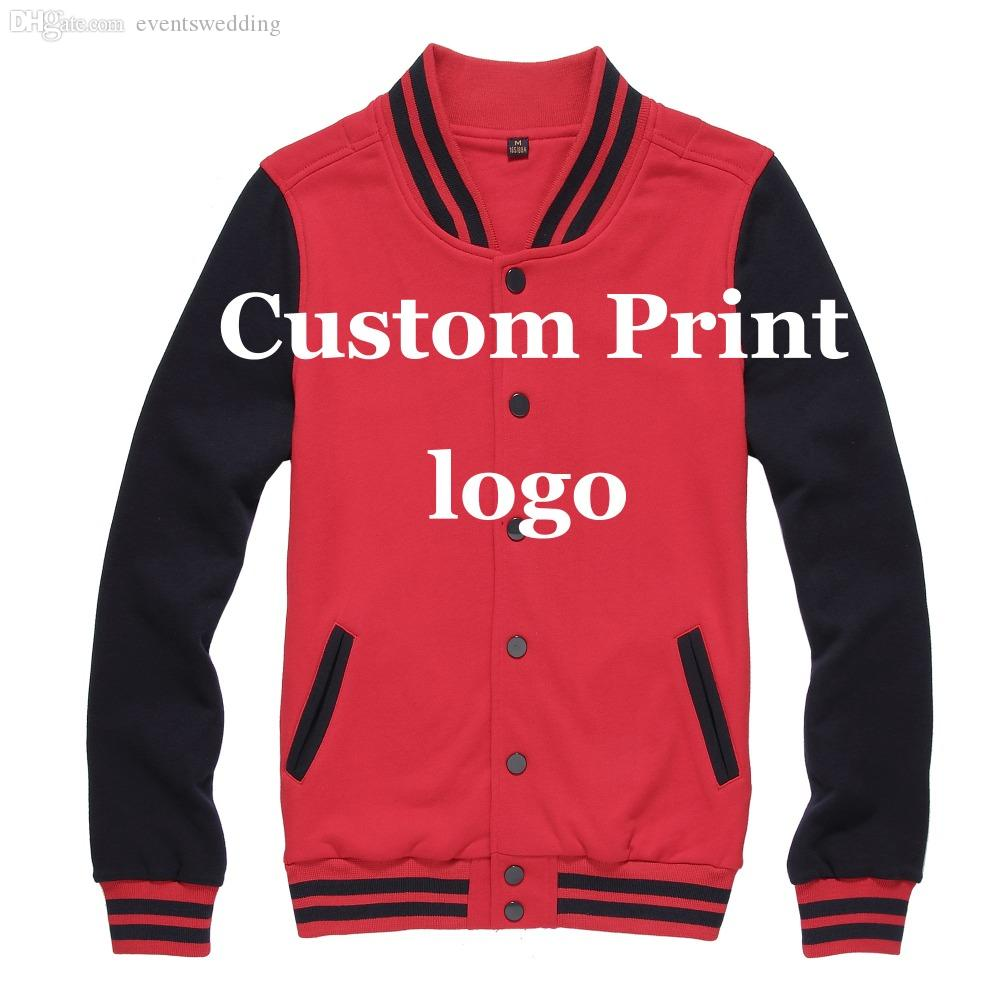Fall Custom Baseball Jacket Print Customized Printing Logo Creat ...