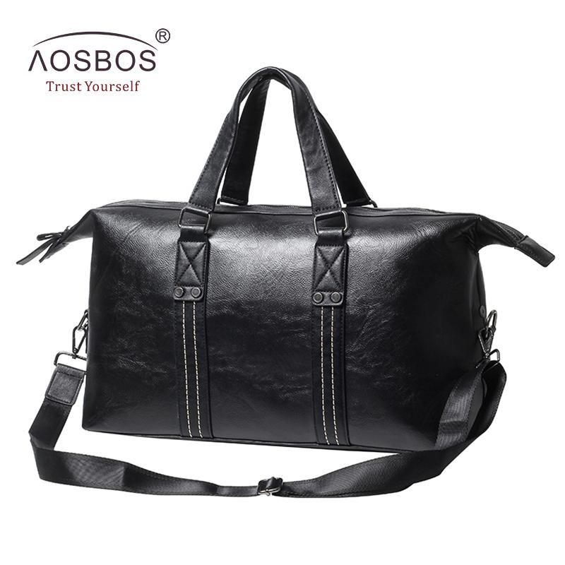 bd1723775d1 2019 2017 PU Leather Gym Bag Men S Sports Bag For Training Fitness Bags  Outdoor Traveling Shoulder Handbags Duffel Tote Black From Chen394931608