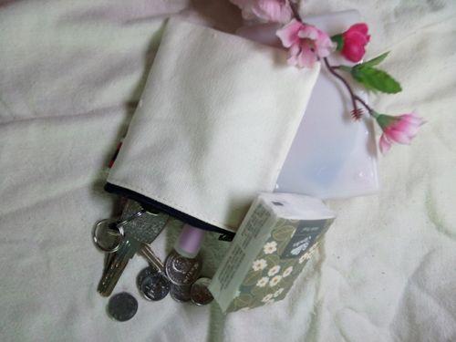 Cream White canvas coin purses DIY Mens blank plain cotton small bags red zipper Fashion casual wallets key cases pouches for men women
