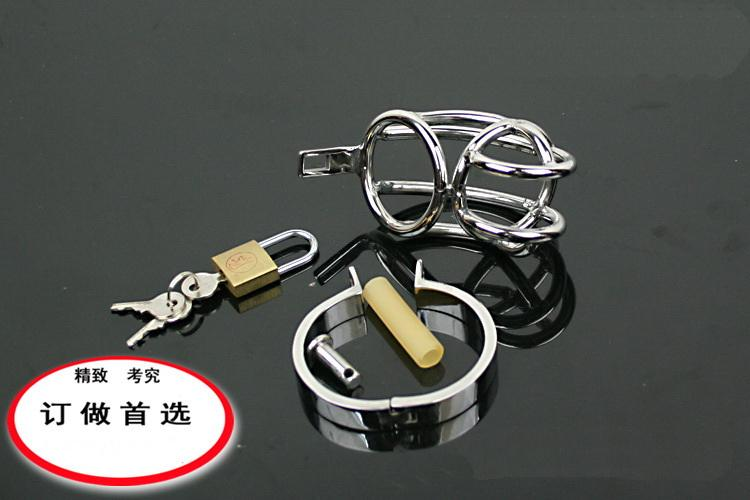 BDSM sm sex toys Petit appareil de chasteté en acier inoxydable ceinture de chasteté en métal pour homme ceinture de chasteté en acier inoxydable st