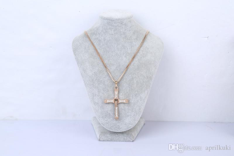 أحدث الذهب الفضة الاسترليني عبر المعلقات قلادة لقلائد حجر الراين الرجال الكريستال القلائد بيان عبر بالجملة المجوهرات العلامة التجارية