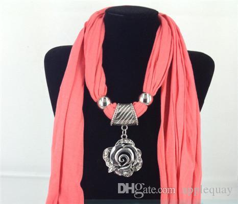 bricolage écharpe bijoux bails breloques pendentifs connecteur plaqué argent dame fleur creux rond grand trou métal hiver bijoux conclusions 43mm
