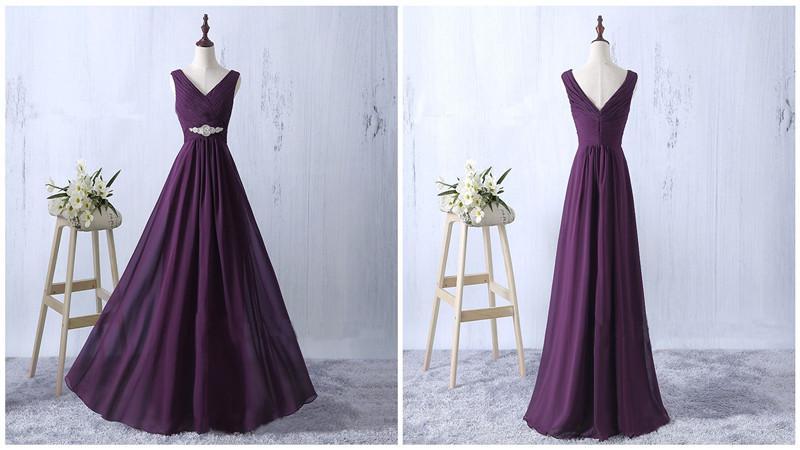 Lila Halfter Abendkleider Sexy Backless V-Ausschnitt Halfter Abendkleider Lange Lila Formale Abend Party Kleider