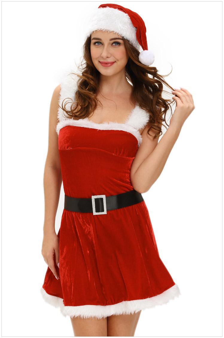 Großhandel Gute Qualität Sexy Porno Rotes Kleid Babydoll Weihnachten ...