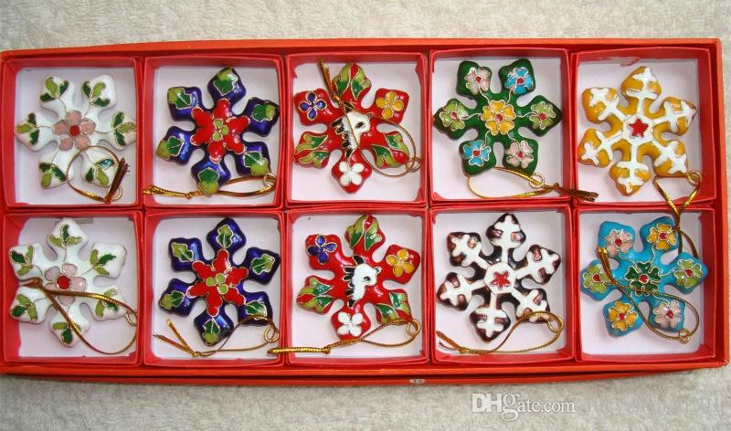 collectibles small size chinese classic cloisonne christmas snowflake ornaments charms large christmas ornaments large christmas ornaments cheap from - Large Christmas Ornaments