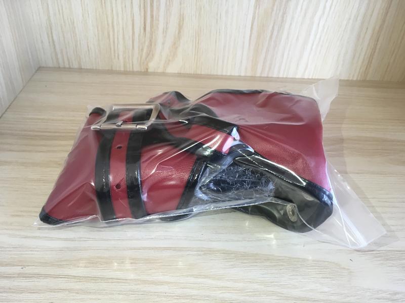 Nero Dildo mutandine con soft Dildo anale e vagina femminile ADJUSTBALE gommato, dildo, Panty di colore rosso pantaloni di pelle Pantaloncini uy