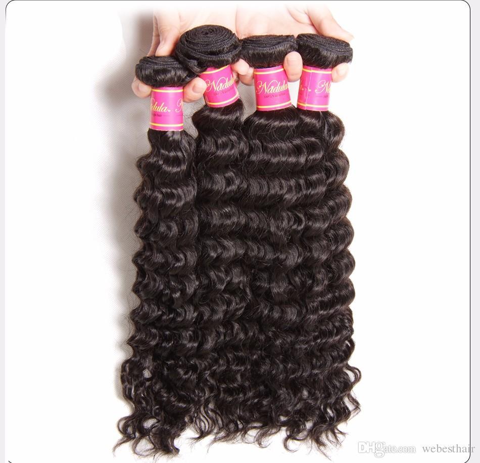 Brazilian Water Wave Single Bundle 100% Human Hair Extensions Color 1B Remy Hair Weave Bundles ship fast