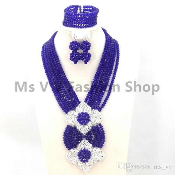collier africain définit plaqué or 18k classy jaune tour de cou cristal perles de mariée indienne perles ensemble de bijoux match pour le mariage nigérian aso ebi robe