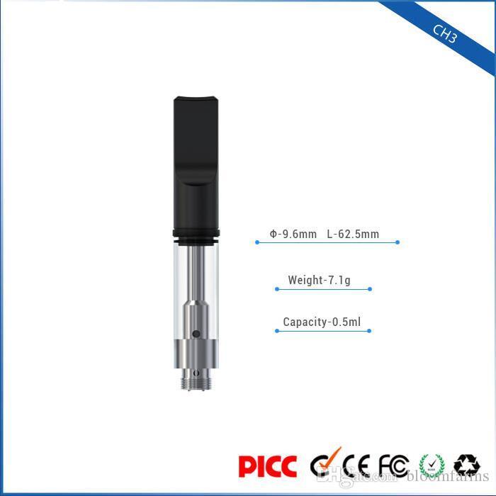 Toptan wickless seramik bobin plastik vape atomizer BUDS DEXS CH3 tek kullanımlık 0.5 ml yüksek şeffaf kartuş buharlaştırıcı