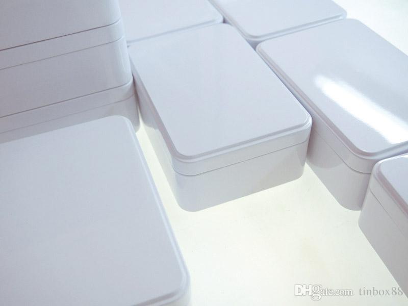 Scatola di latta del biscotto della cassa del contenitore di immagazzinaggio del metallo dei gioielli della caramella bianca di nuovo arrivo 150X100X50mm