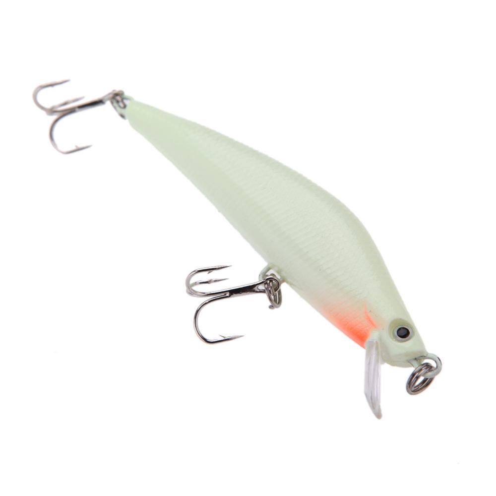 3D Luminous Night Fishing Minnow Lure Isca Artificial Hard Fishing Bait 82mm 8g Minnow Fishing Lures Tackle With 2 Hooks
