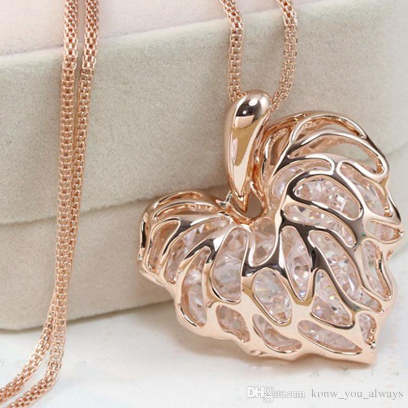 Monili della collana del pendente della catena di dichiarazione della bibbia del cuore placcati oro di modo delle donne NUOVO