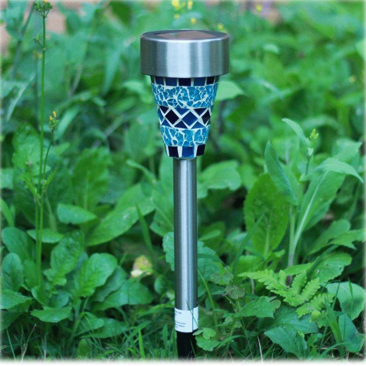 Mosaic glass, lawn lamp, solar garden lamp, LED decorative lamp, waterproof outdoor garden lamp